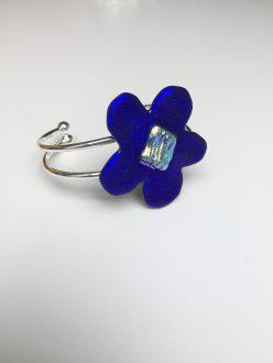Dark Blue Flower Slave Bracelet