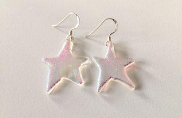 Dichroic Glass Star Earrings