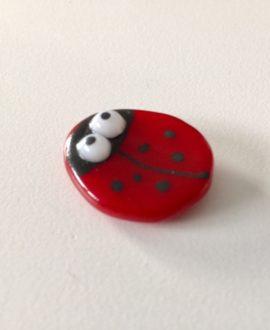 Glass Ladybird Brooch