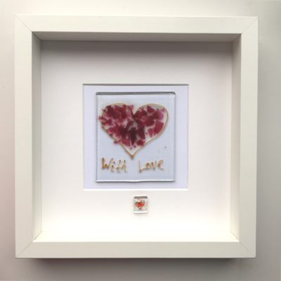 Heart in glass with love motif dad father's day